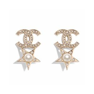 🇺🇸2019 Chanel CC Earrings Crystals,Pearl GHW🇺🇸